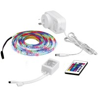 Aurora Enlite LEDline 5M 12V Single Colour Cuttable LED Strip Kit RGB