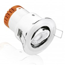 Aurora Enlite E5 4.5W Adjustable Dimmable Fire Rated LED Downlight Polished Chrome