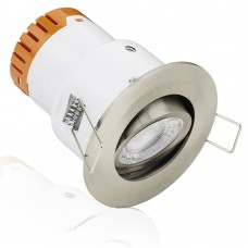 Aurora Enlite E5 4.5W Adjustable Dimmable Fire Rated LED Downlight Satin Nickel