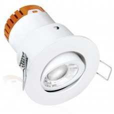 Aurora Enlite E5 4.5W Adjustable Dimmable Fire Rated LED Downlight Matt White