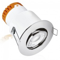 Aurora Enlite E8 8W Adjustable Dimmable Fire Rated LED Downlight Polished Chrome