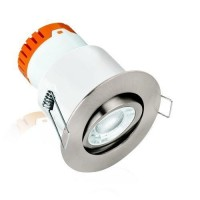 Aurora Enlite E8 8W Adjustable Dimmable Fire Rated LED Downlight Satin Nickel