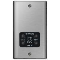 BG NBS20B Shaver Socket 115/230V Black Inserts