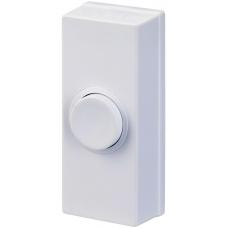 BG Wired White Plastic Door Bell Push Button MDCPB1