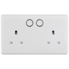 BG 822/HC Smart Switched Double Socket Outlet 13A - Alexa/Google Home
