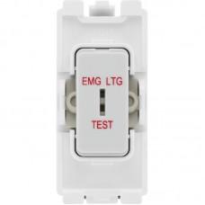BG R12EL Grid Switch 2 Way Emergency Test White