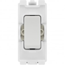 BG R13 Grid Switch Intermediate 20AX White