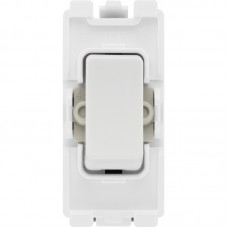 BG R14 Grid Retractive Switch 2 Way SP 20AX White