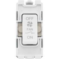 BG R15 Grid Switch 3 Pole Fan Isolator 10A White