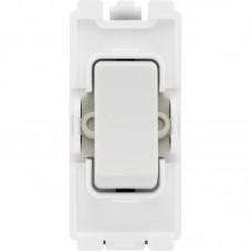BG R30 Grid Switch Double Pole 20AX White