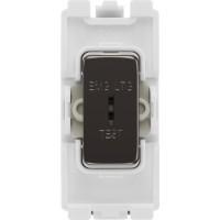 BG RBN12EL Grid Switch 2 Way Emergency Test Black Nickel