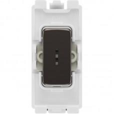 BG RBN12KY Grid Key Switch 2 Way SP 20AX Black Nickel