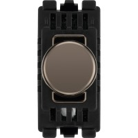 BG RBNDTR Grid Dimmer Switch Trailing Edge Black Nickel