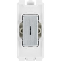 BG RBS12KY Grid Key Switch 2 Way SP 20AX Brushed Steel