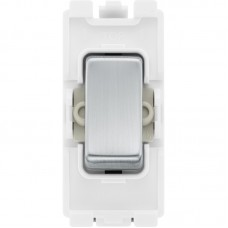BG RBS14 Grid Retractive Switch 2 Way SP 20AX Brushed Steel