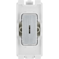 BG RBS30KY Grid Key Switch Double Pole 20AX Brushed Steel