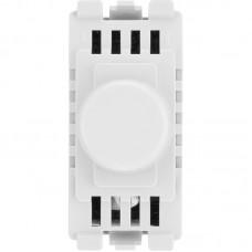 BG RDTR Grid Dimmer Switch Trailing Edge White