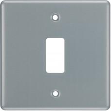 BG RMC1 Grid Frontplate 1 Gang Metal Clad