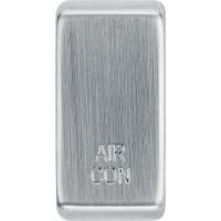 BG RRACBS-01 Grid Rocker Air Conditioning Brushed Steel