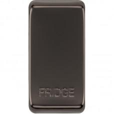 BG RRFDBN-01 Grid Rocker Fridge Black Nickel