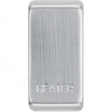 BG RRHTBS-01 Grid Rocker Heater Brushed Steel
