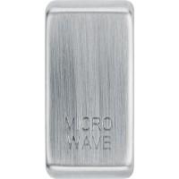 BG RRMWBS-01 Grid Rocker Microwave Brushed Steel