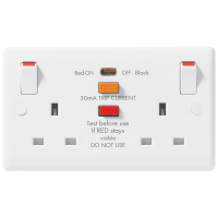BG 822RCD Double Switched Socket Outlet SP with RCD