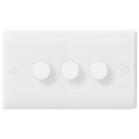 BG 883P Triple Dimmer Push Switch 3Gang 2Way 400W