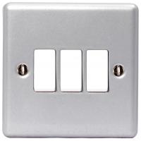 BG Nexus Metal Clad Triple Light Switch - MC543