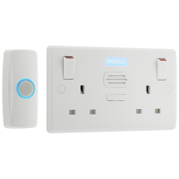 BG 822BELL Double Switched Socket Door Chime