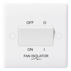 BG Nexus White Fan Isolator Switch - 815