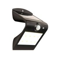Luceco Solar Guardian Outdoor Wall Light Black 1.5w LEXS30