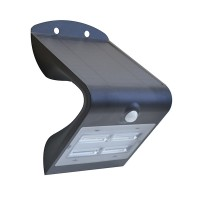 Luceco Solar Guardian Outdoor Wall Light Black 3.2w LEXS40
