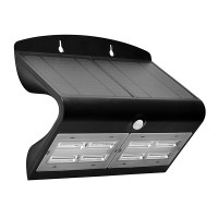 Luceco Solar Guardian Outdoor Wall Light Black 6.8w LEXS80