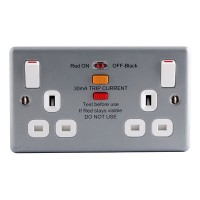 BG Nexus Metal Clad Double RCD Socket - MC522RCD