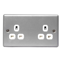 BG Nexus Metal Clad Unswitched Double Socket - MC524