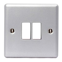 BG Nexus Metal Clad Double Light Switch - MC542