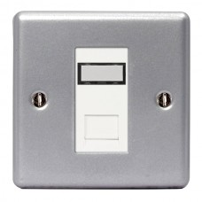 BG Nexus Metal Clad Single RJ45 Data Socket - MC5RJ451
