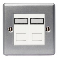 BG Nexus Metal Clad Double RJ45 Data Socket - MC5RJ452