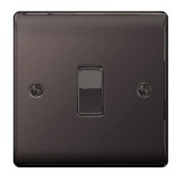 BG Nexus Black Nickel Single Light Switch - NBN12