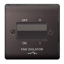 BG Nexus Black Nickel Fan Isolator Switch TP - NBN15