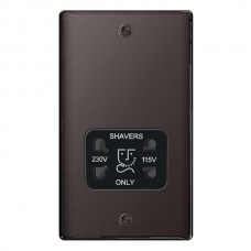 BG Nexus Black Nickel Dual Voltage Shaver Socket - NBN20B