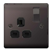 BG Nexus Black Nickel Single Socket - NBN21B
