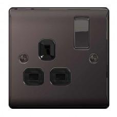 BG Nexus Black Nickel Single Socket - NBN21B