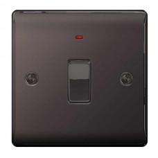 BG Nexus Black Nickel Double Pole Switch with Neon - NBN31