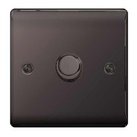 BG Nexus Black Nickel Single Dimmer Switch - NBN81P