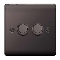 BG Nexus Black Nickel Double Dimmer Switch - NBN82P