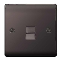 BG Nexus Black Nickel Master Telephone Socket - NBNBTM1
