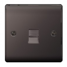 BG Nexus Black Nickel Slave Telephone Socket - NBNBTS1