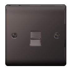 BG Nexus Black Nickel Slave Telephone Socket - NBNBTS1